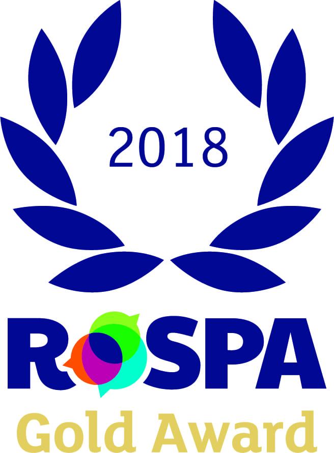 Gold RoSPA Award 2018