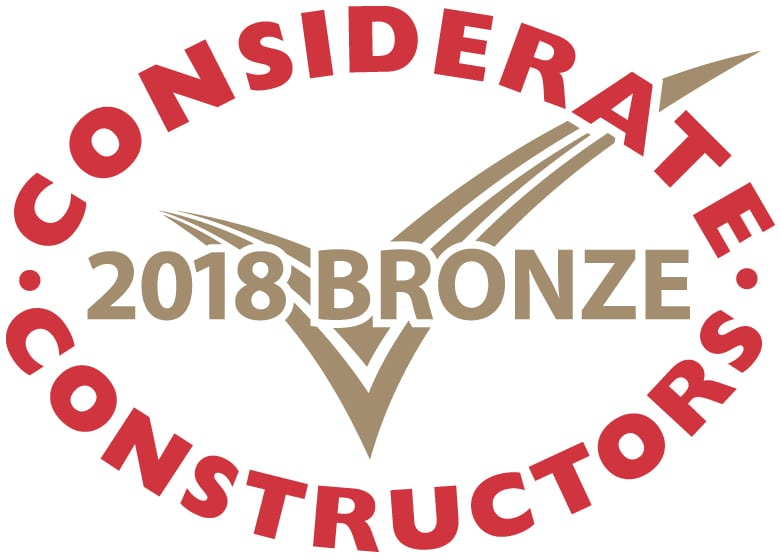 Bronze Considerate Constructors Scheme National Site Award 2018