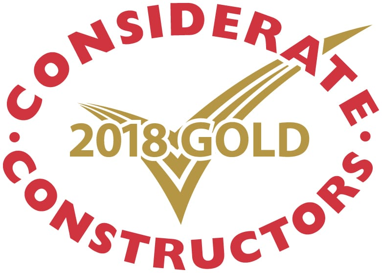Gold Considerate Constructors Scheme National Site Award 2018