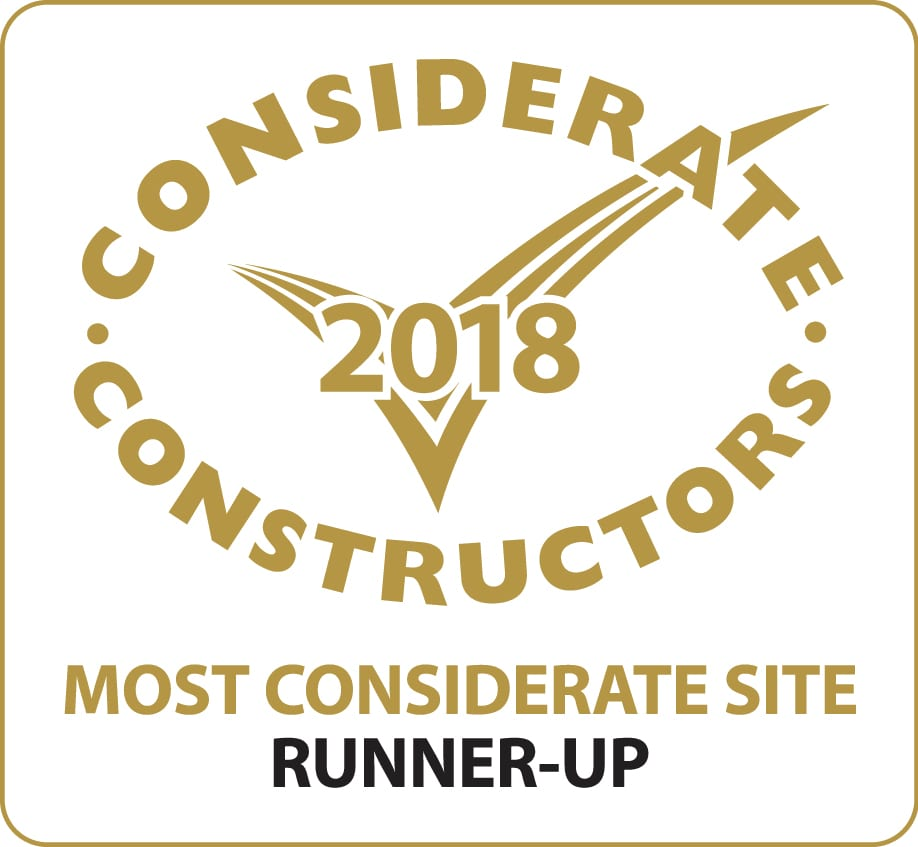 Runner Up Most Considerate Site Award 2018
