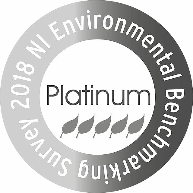 Platinum status - NI Environmental Benchmarking Survey 2018
