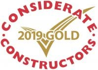 Gold Considerate Constructors Scheme National Site Award 2019